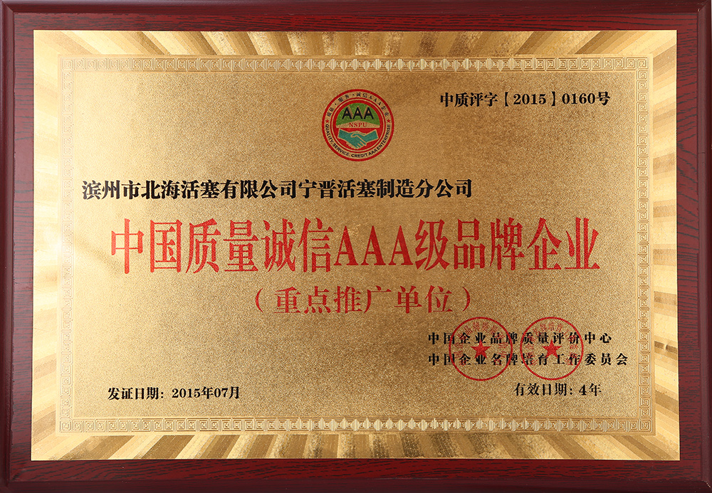 China Quality Integrity AAA Brand Enterprise
