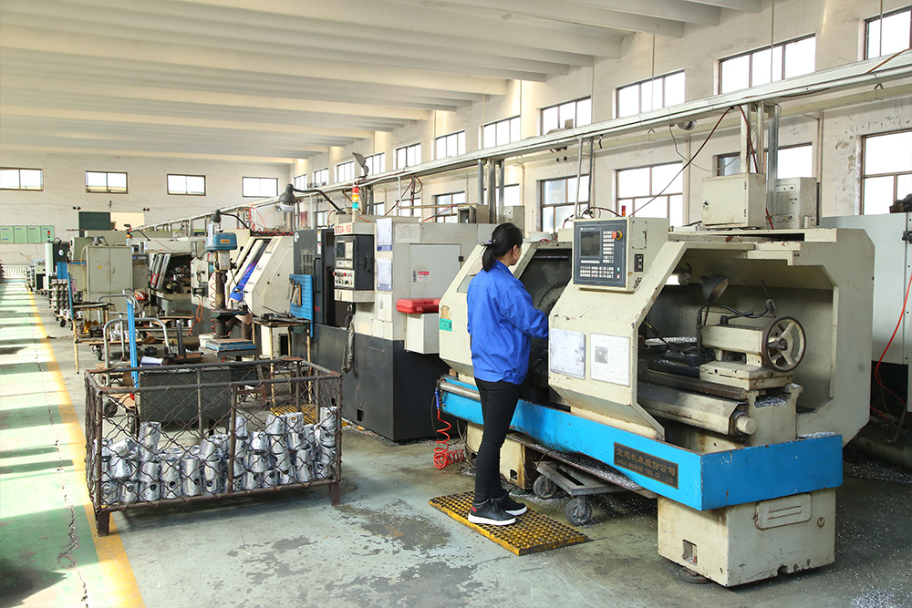 Aluminum piston machining production line