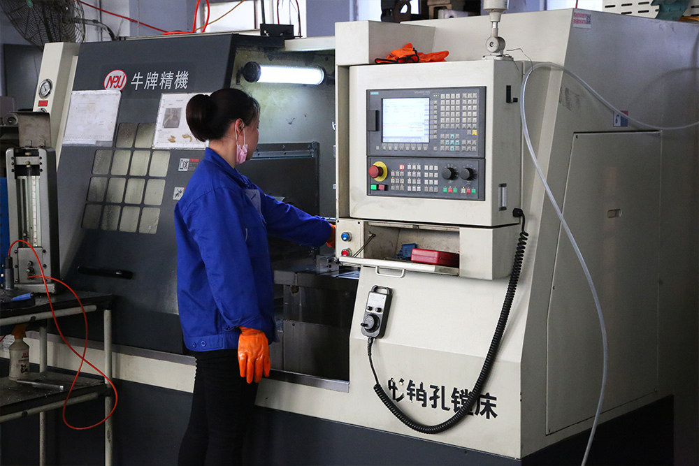 Bull brand shaped pin hole boring machine